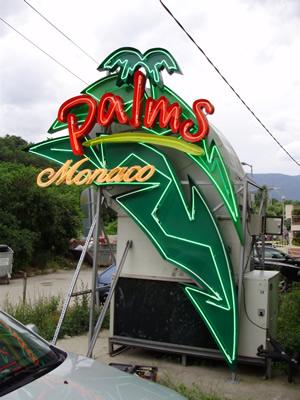 Palms Monaco glowing ads