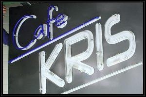 cafe kris glowing ads