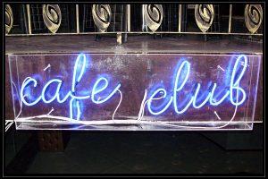 cafe club glowing ads