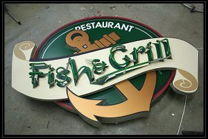 fish and gril glowing ads