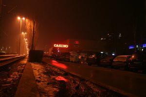 casino night glowing ads