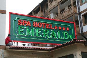 spa hotel emerald glowing ads
